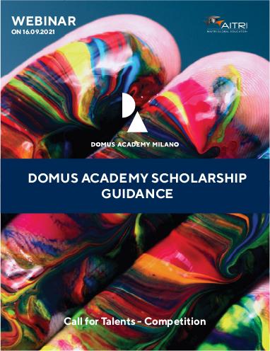 Webinar on Domus Academy Scholarship Guidance