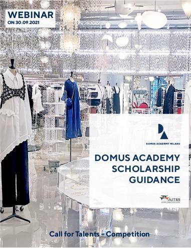 Webinar on Domus Academy Scholarship Guidance for February 2022 Intake